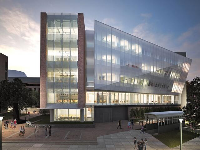 Architect's rendering of the Wharton Academic Research Building